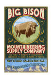 Bison Mountaineering - Vintage Sign Print by  Lantern Press