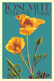 Yosemite National Park, California - Poppy Art by  Lantern Press