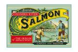 Oregon - Columbia River - the Oregon Historical Society Salmon Label Affiches par  Lantern Press