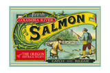 Oregon - Columbia River - the Oregon Historical Society Salmon Label Prints by  Lantern Press