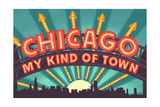 Chicago, Illinois - Marquee Posters by  Lantern Press