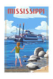 Mississippi - River Boat Posters by  Lantern Press