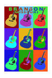 Branson, Missouri - Acoustic Guitar Pop Art Prints by  Lantern Press
