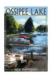 Ossipee Lake, New Hampshire - Pontoon Boats Posters by  Lantern Press