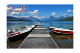 Glacier National Park, Montana - Lake McDonald Dock Posters by  Lantern Press