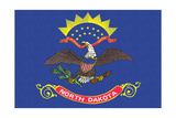 North Dakota State Flag Art by  Lantern Press