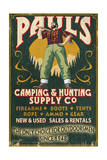 Paul Bunyan - Vintage Sign Posters by  Lantern Press