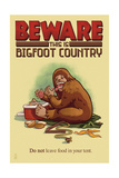 Bigfoot Country - Don't Leave Food in Tent Prints