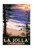 La Jolla, California - Sunset Beach Posters by  Lantern Press