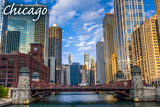 Chicago, Illinois - City and River Prints by  Lantern Press