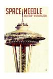Space Needle - Double Exposure - Seattle, Washington Poster by  Lantern Press