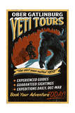 Ober Gatlinburg, Tennesse - Yeti Tours - Vintage Sign Posters by  Lantern Press