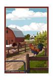 Barnyard Scene Posters