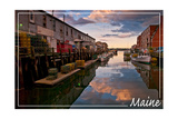 Maine - Harbor at Sunrise Print by  Lantern Press