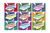 Las Vegas, Nevada - Welcome Sign Pop Art Posters by  Lantern Press