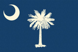 South Carolina State Flag Prints by  Lantern Press