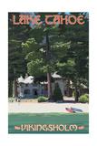 Lake Tahoe - Vikinsholm Castle Prints by  Lantern Press