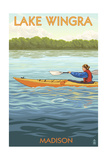 Madison, Wisconsin -Lake Wingra - Kayaker Posters by  Lantern Press