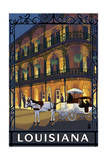 Louisiana - French Quarter Print by  Lantern Press