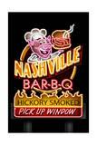 Nashville, Tennessee - Neon BBQ Sign Posters par  Lantern Press