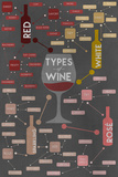 Types of Wine Infographic Posters