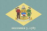 Delaware State Flag Print by  Lantern Press