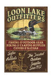 Loon Outfitters - Vintage Sign Affiche par  Lantern Press