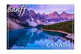 Banff, Canada - Moraine Lake Sunrise Art by  Lantern Press