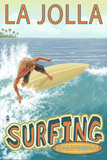 La Jolla, California - Surfer Poster by  Lantern Press