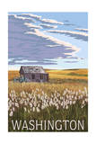 Washington - Wheat Field and Shack Posters by  Lantern Press