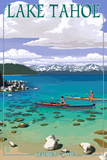 Lake Tahoe - Kayakers in Secret Cove Posters by  Lantern Press