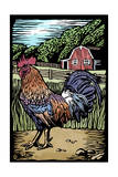 Rooster - Scratchboard Prints by  Lantern Press