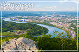 Chattanooga, Tennessee - Aerial View Poster by  Lantern Press