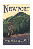 Newport, New Hampshire - Live Free and Climb Posters by  Lantern Press