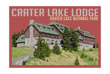 Crater Lake National Park, Oregon - Lodge Art by  Lantern Press