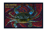 Bethany Beach, Delaware - Blue Crab Mosaic Prints