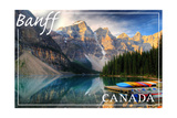Banff, Canada - Moraine Lake Canoes Posters by  Lantern Press
