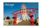 Chicago, Illinois - Navy Pier Prints by  Lantern Press