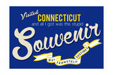 Visited Connecticut - Authentic Souvenir Posters by  Lantern Press