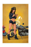 Pinup Girl Police Officer Posters by  Lantern Press