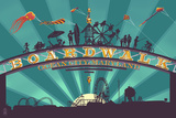Ocean City, Maryland - Boardwalk Sign Print by  Lantern Press