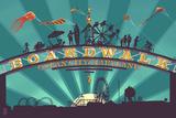 Ocean City, Maryland - Boardwalk Sign Print by  Lantern Press