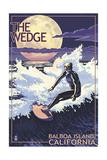 The Wedge - Balboa Island, California - Night Surfer Prints by  Lantern Press