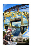 Sacramento, California - Montage Posters by  Lantern Press
