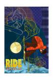 Brundage Mountain, Idaho - Timelapse Snowboarder Poster by  Lantern Press