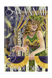 Savannah Georgia - Mardi Gras Prints by  Lantern Press