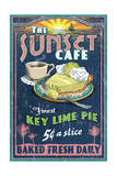 Key Lime Pie - Vintage Sign Prints by  Lantern Press