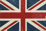 Union Jack - Distressed Premium Giclee Print by  Lantern Press