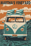 Martha's Vineyard - VW Van Art by  Lantern Press