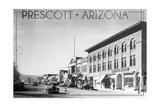Prescott, Arizona - Montezuma St, Whiskey Row - Lantern Press Prints